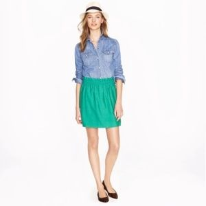 J. Crew | Teal Paper Bag Waist Skirt